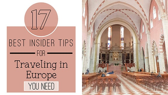 17 Best Insider Tips For Traveling in Europe You Need