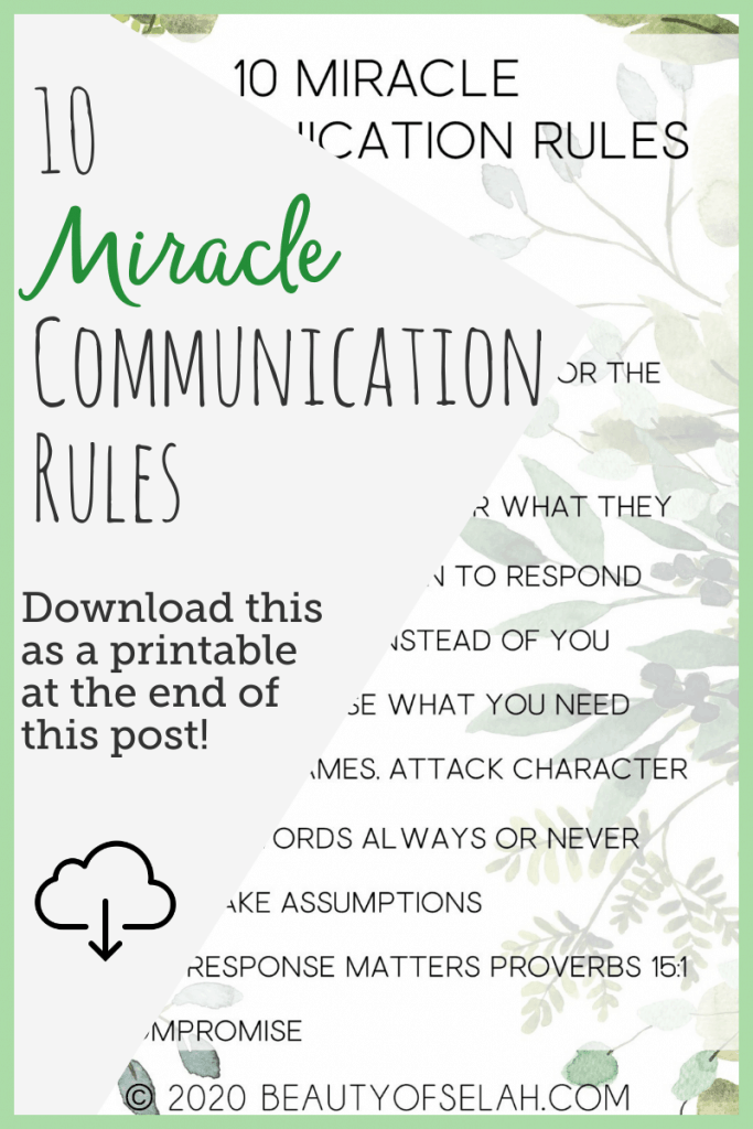 Communication Rules for Marriage scroll to the bottom of the post to download these rules