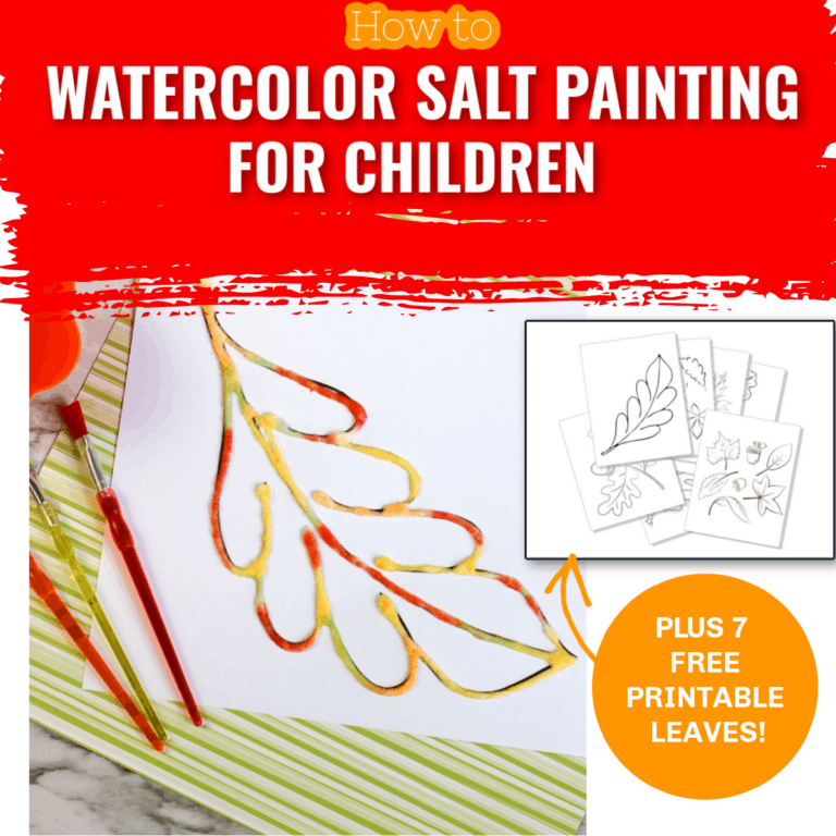 Fall Leaf Painting with Salt