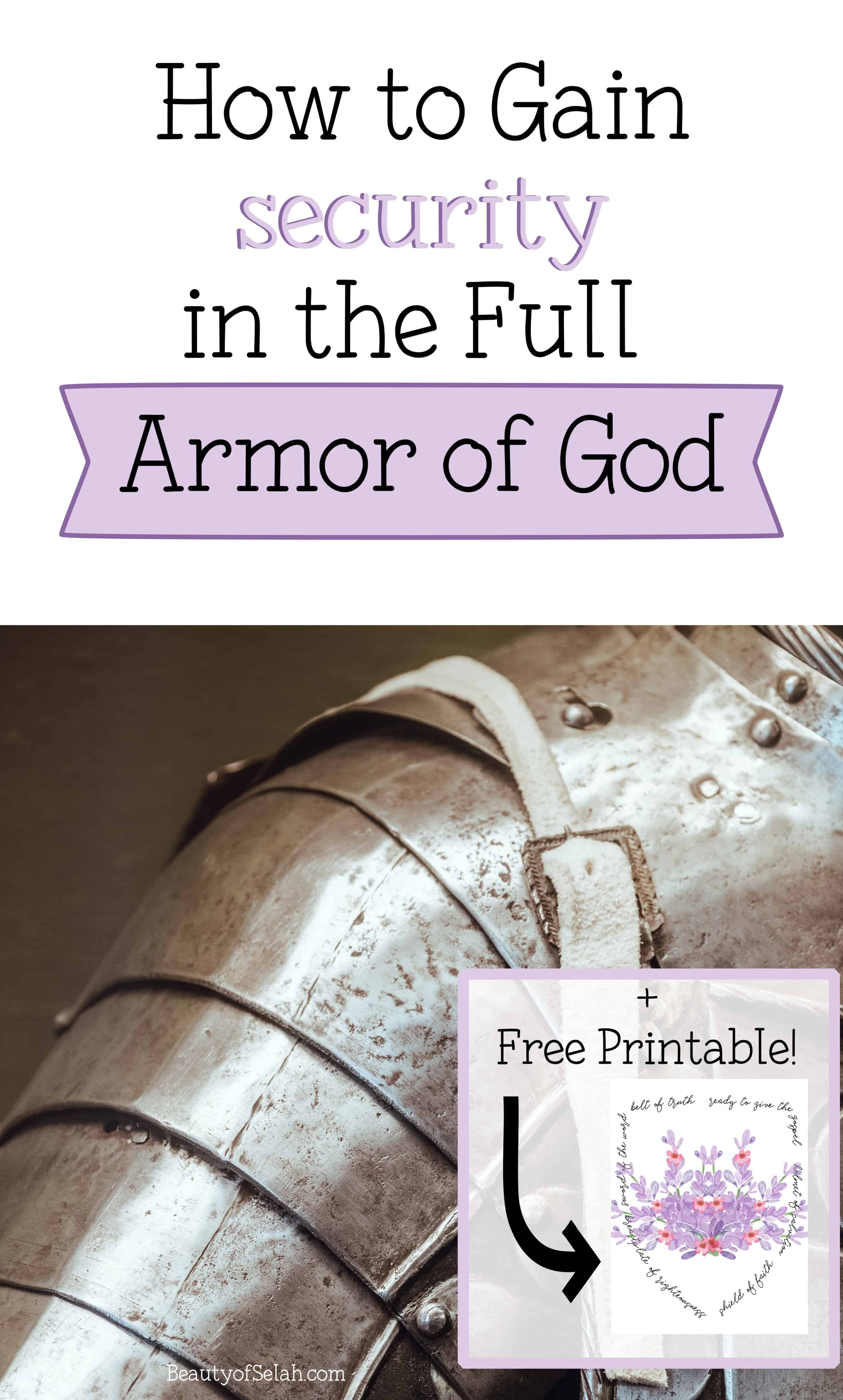 How to Gain Security in the Full Armor of God
