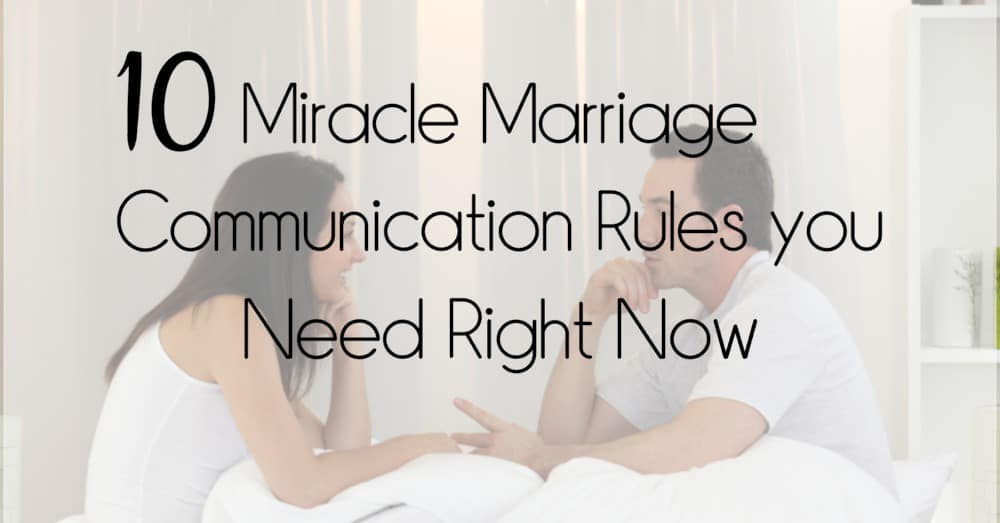 Marriage Communication Rules