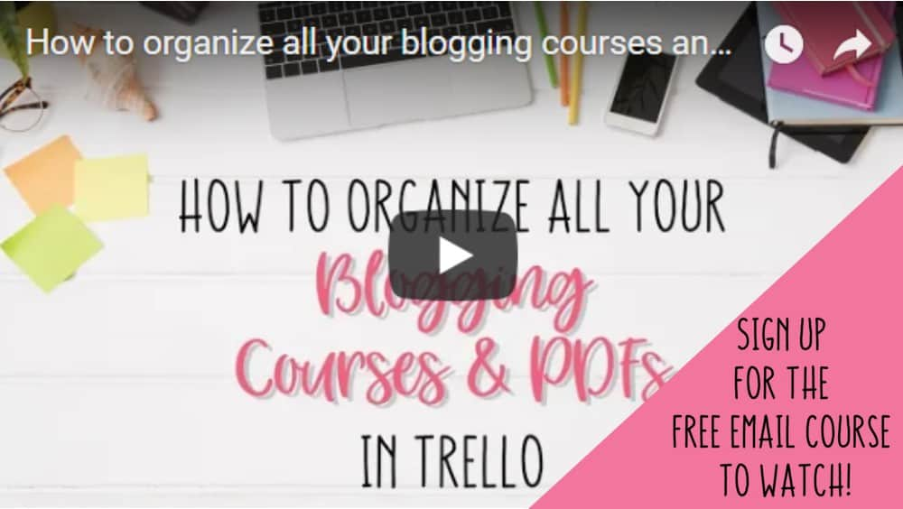 Organize Blogging Courses and PDFs Email Sign Up