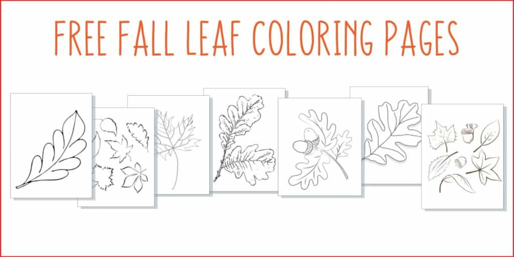 free fall leaf coloring pages