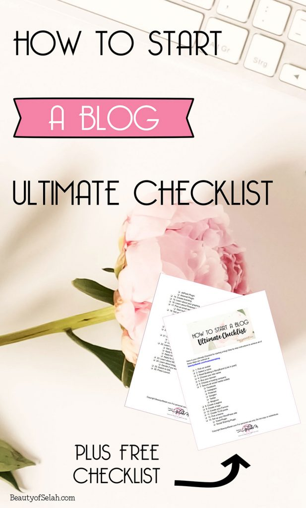 how to start a blog ultimate checklist